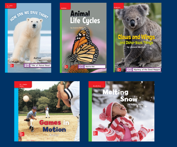 Cover and Interior text design for K-6 leveled readers